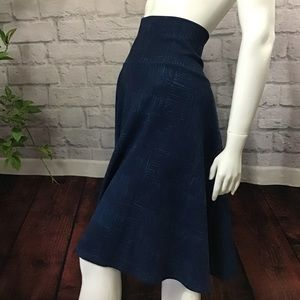 🆕🌻 SALE! 3/$20 Dark blue square stripe XL skirt
